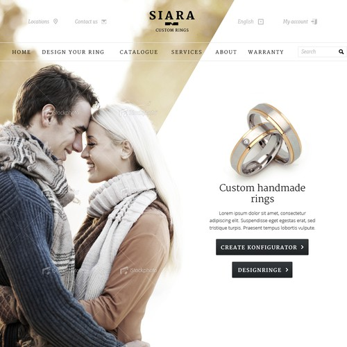 Avant-garde Webdesign for a Wedding-Ring configurator