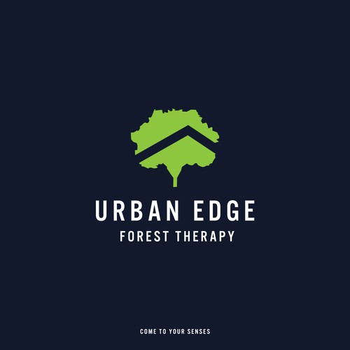 Urban Edge Forest Therapy Logo Entry
