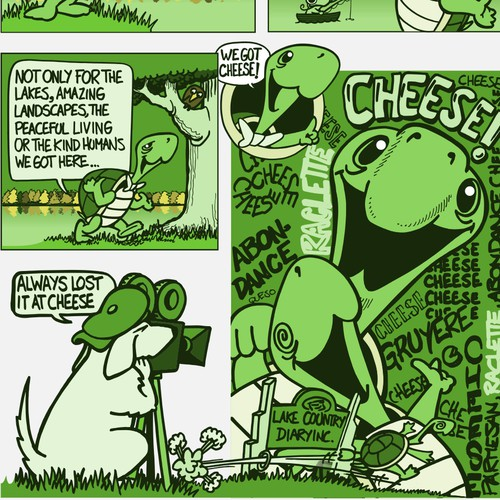Cheese factory comic for package