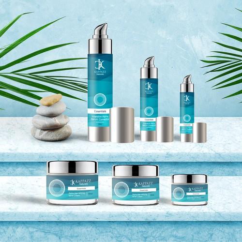 Beauty Brand Serum and Cream Design