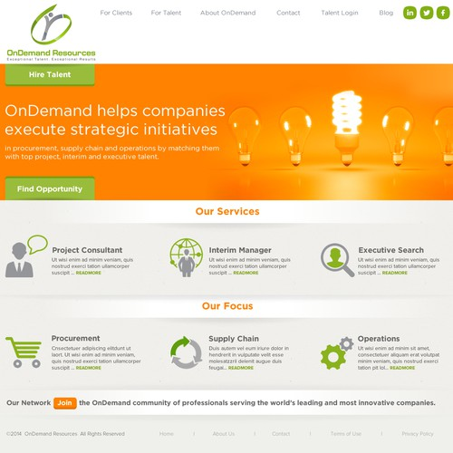OnDemand Website - Need Creative Thinkers!
