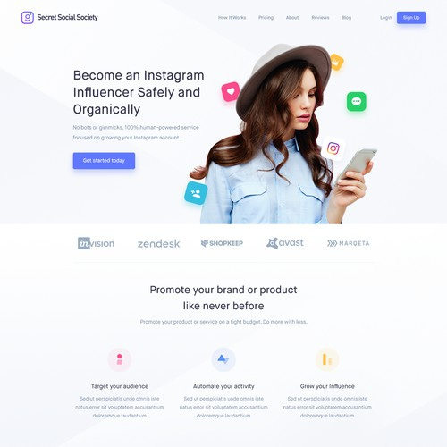 Instagram Marketing - Landing Page