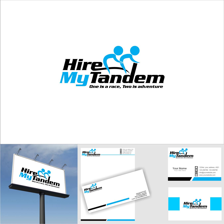 Tandem bike hire business logo