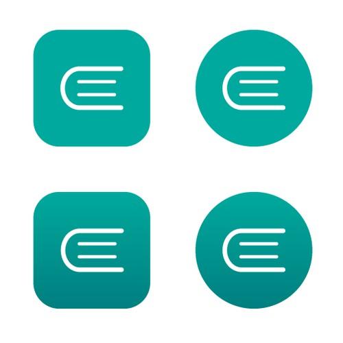 Ebook Reader App Icon Design