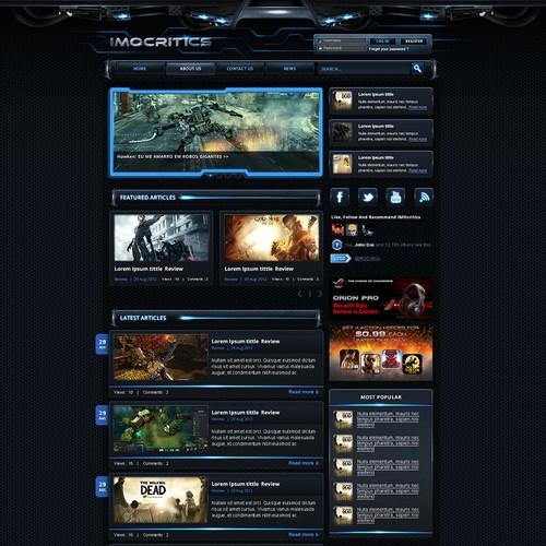Create the next website design for IMOCritics