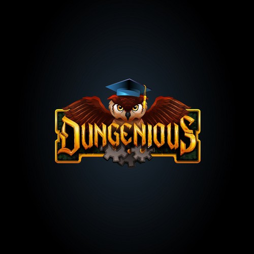 Fantasy Quiz Game Logo for Dungenious