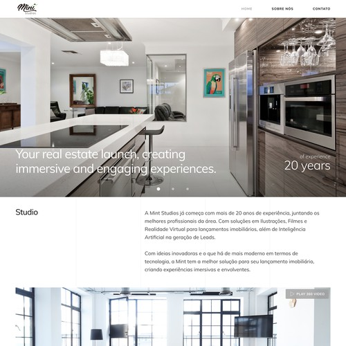 Web design for a 3D viz company that create 3d renders and 3d films