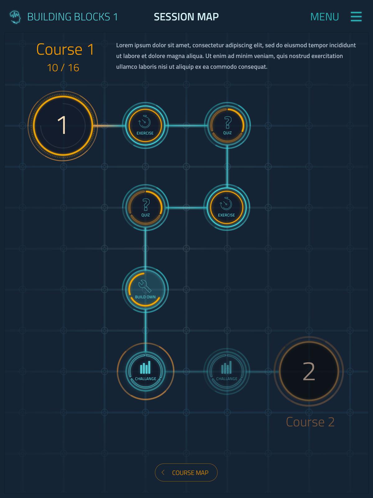 Audible Genius continuation - Part 3 - Course Map