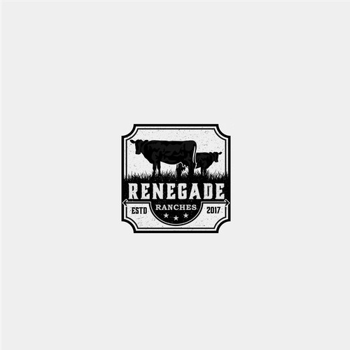 Classic Logo For Cow Ranch
