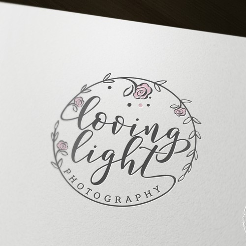 Floral logo for photography company