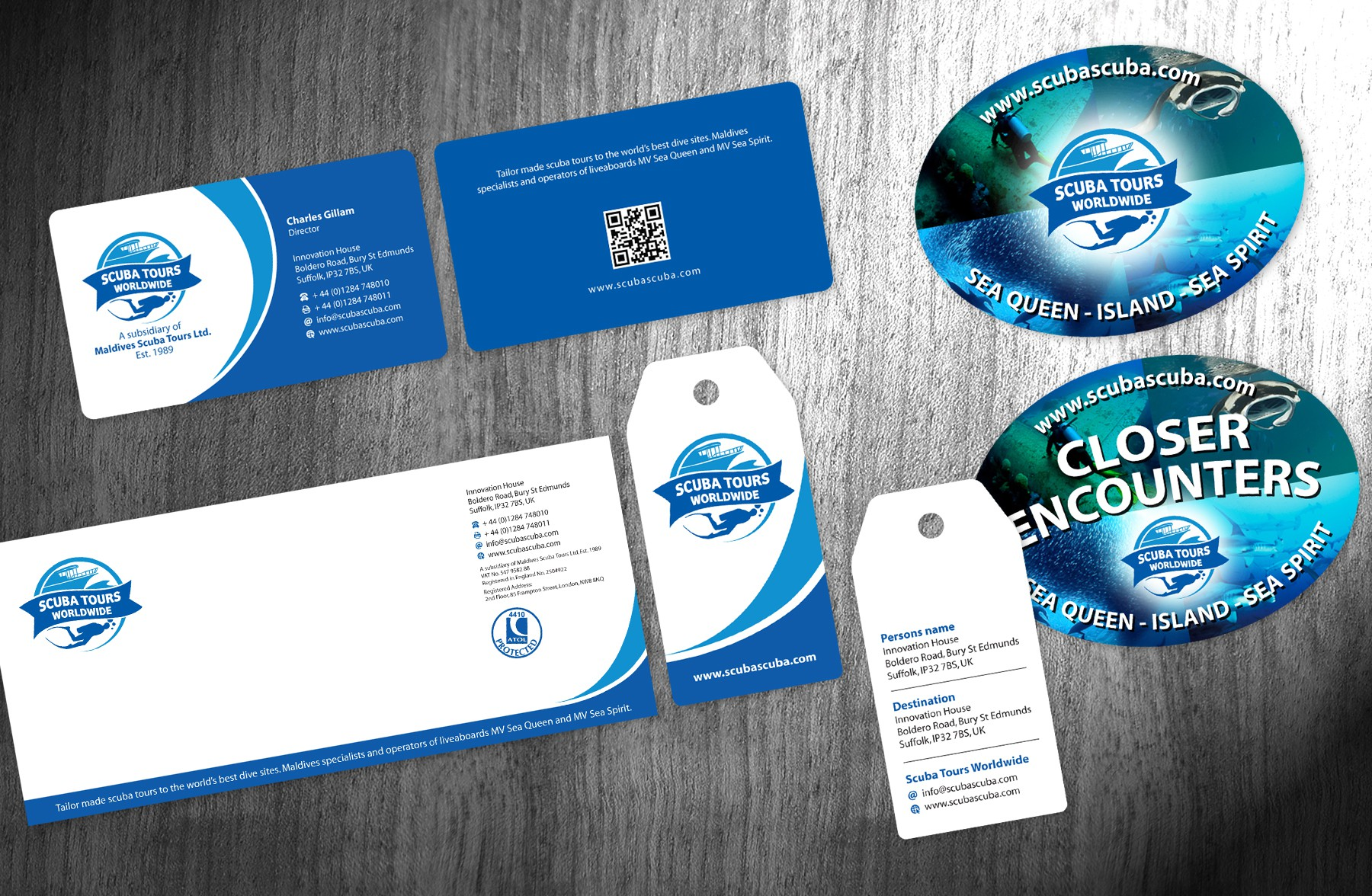 Exciting New Stationery for Scuba Tours Worldwide
