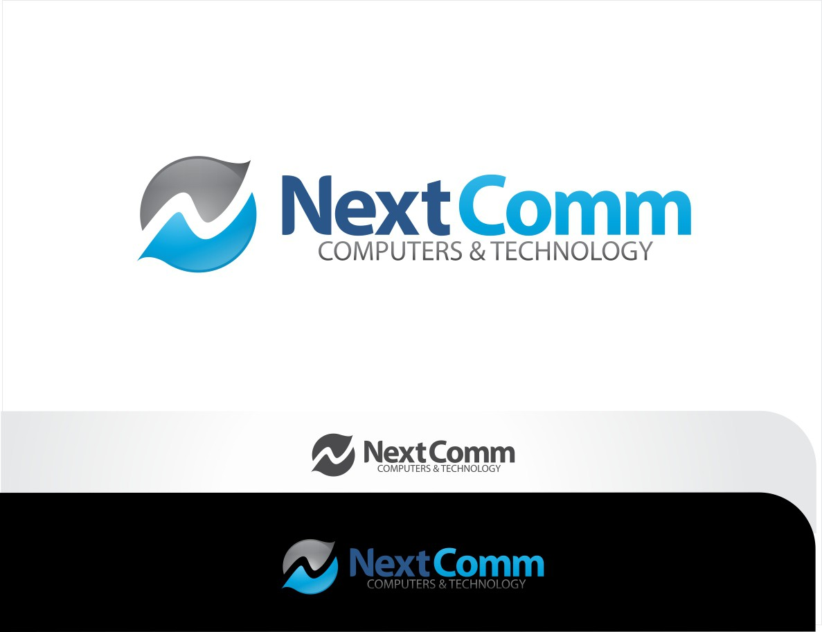 Create the next logo for Next Comm Computers & Technology