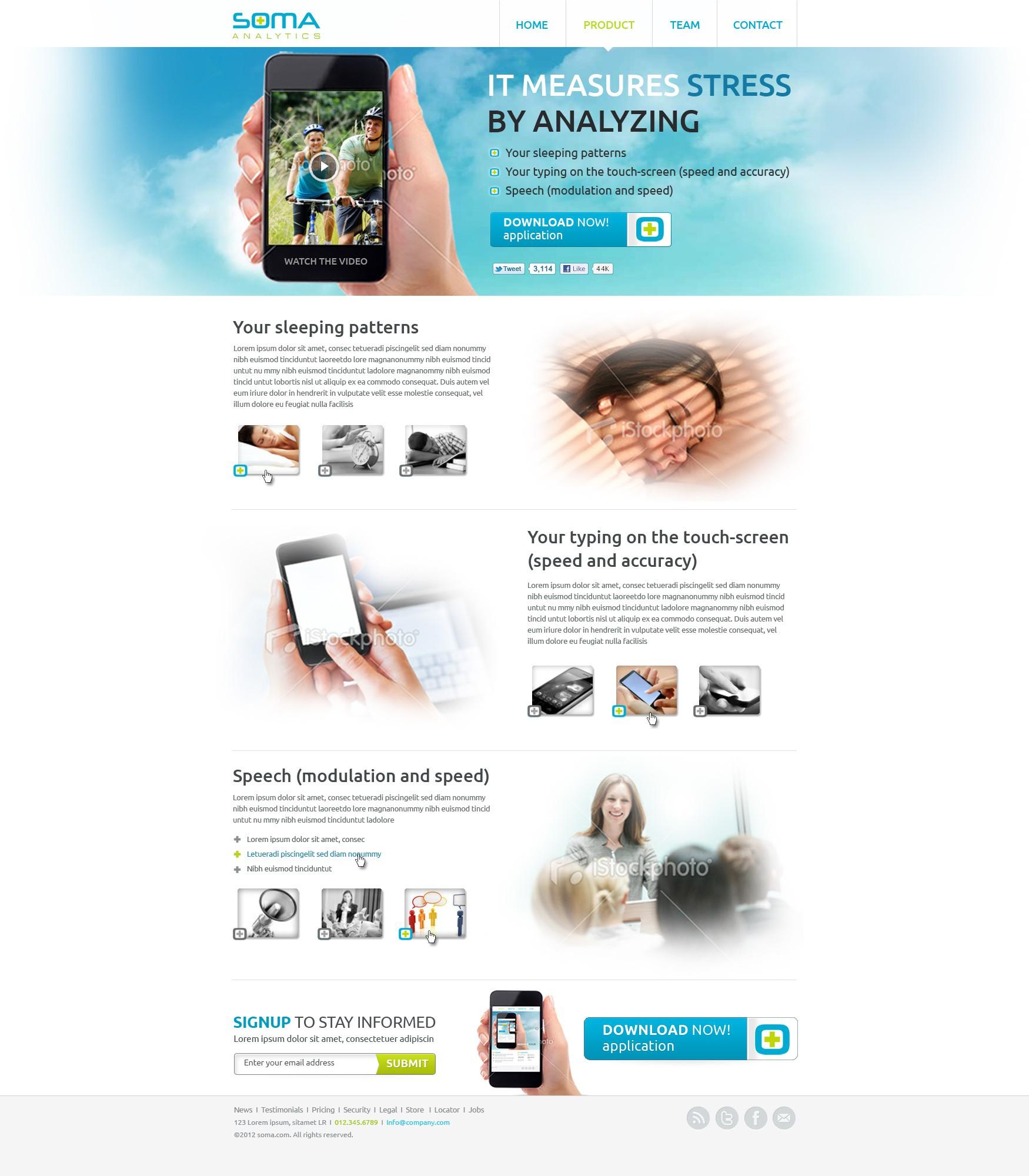 website design for SOMA Analytics