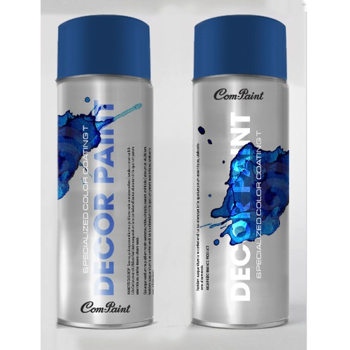 Product Label Design for AEROSOL SPRAY PAINT CAN
