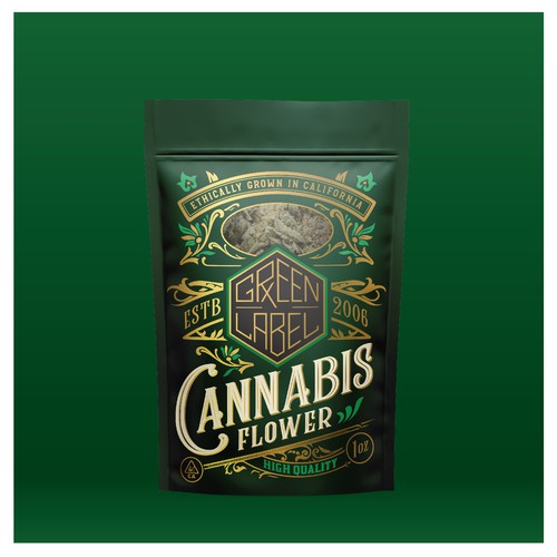 Green Label Cannabis packaging