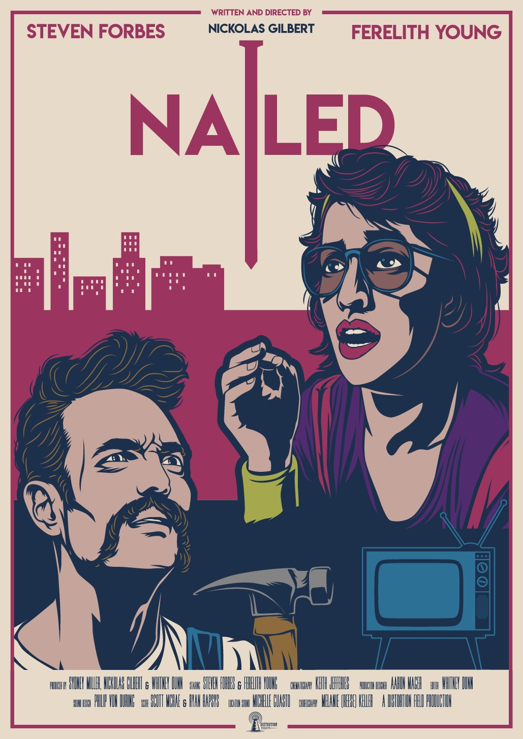 """Design a poster for the short film """"Nailed"""""""