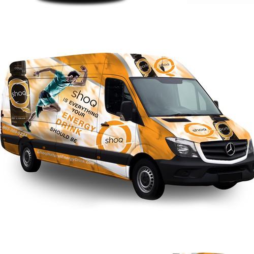 Energy Drink Van Wrap Design