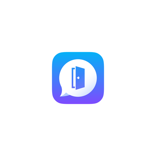 iOS app icon for a social media app