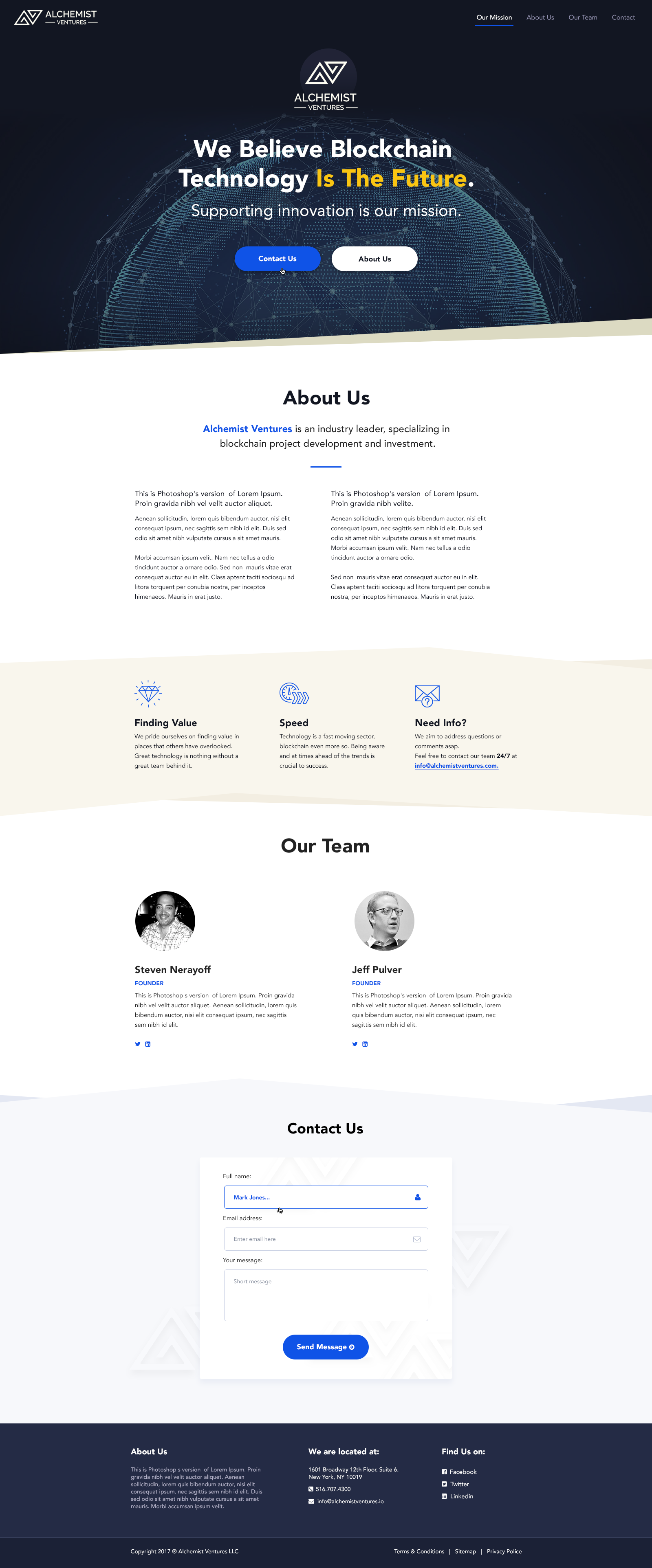 Alchemist Website : Redesign a new website for a technology investment company.!