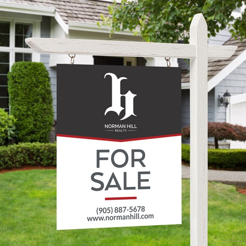 Modern Minimalist FOR SALE real estate sign