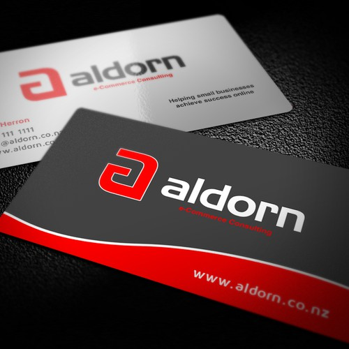 """Aldorn"" needs a logo and business card, one aimed at your parents, that less tech savy generation!"
