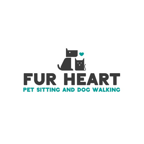 Modern Pet Sitting & Dog Walking Logo