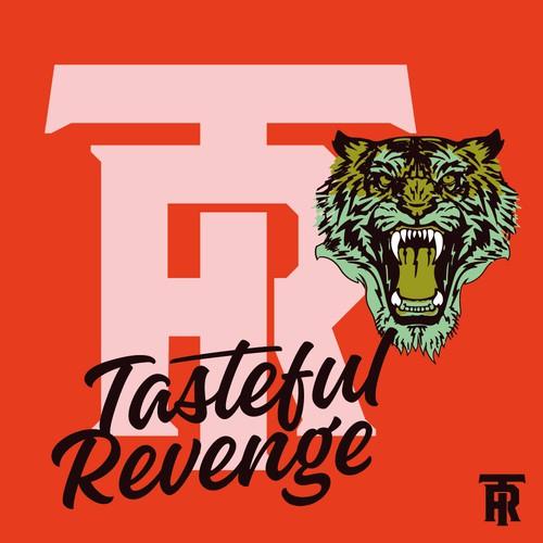 A tiger mascot and monogram logo/branding for streetwear apparel