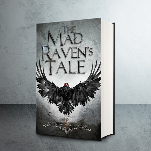Gritty and aggressive book cover for a dark fantasy novel