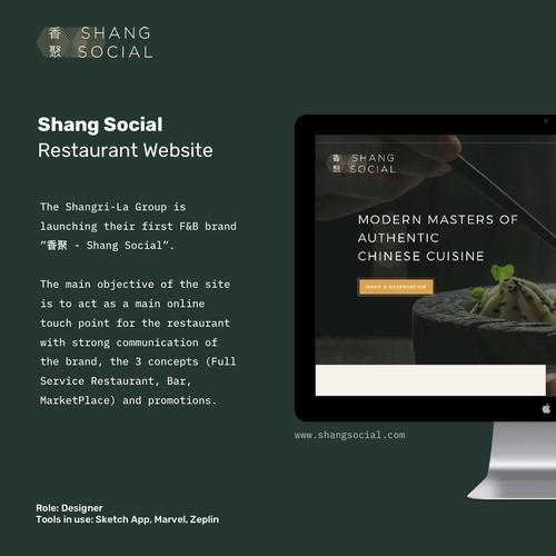 Shang Social Website Design
