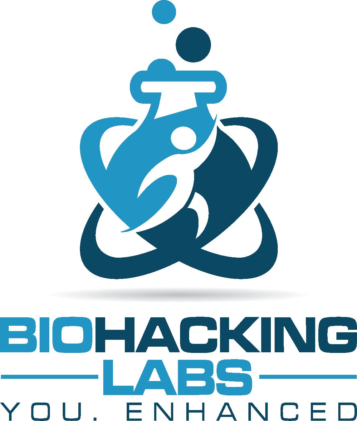 Create a logo for BioHacking Labs -- You. Enhanced.