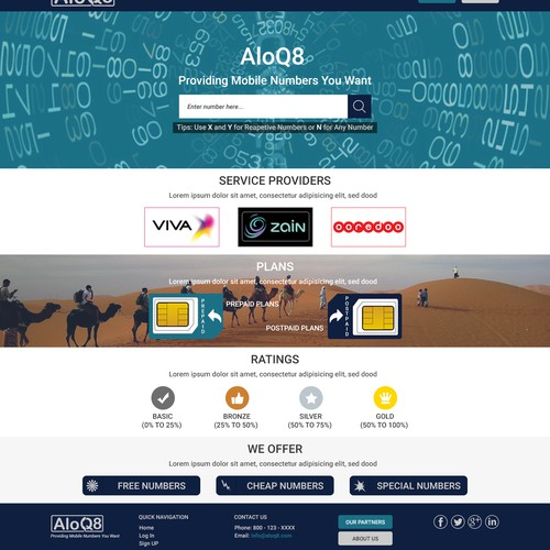 Homepage for AloQ8
