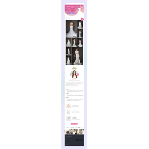 Mobile website for personal bridal stylist
