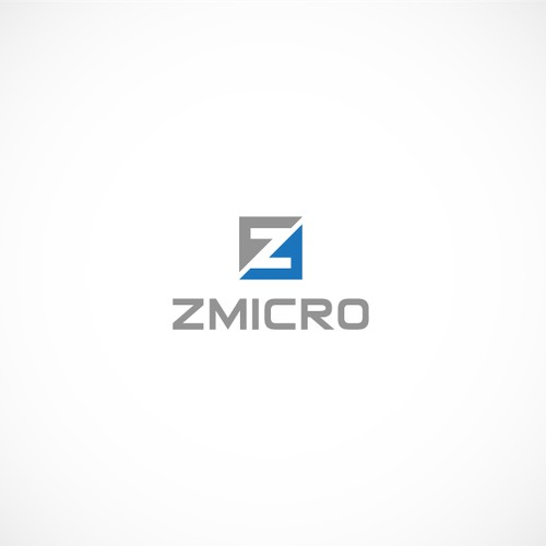 Create a capturing, high-end logo for Z Micro, a growing tech company.
