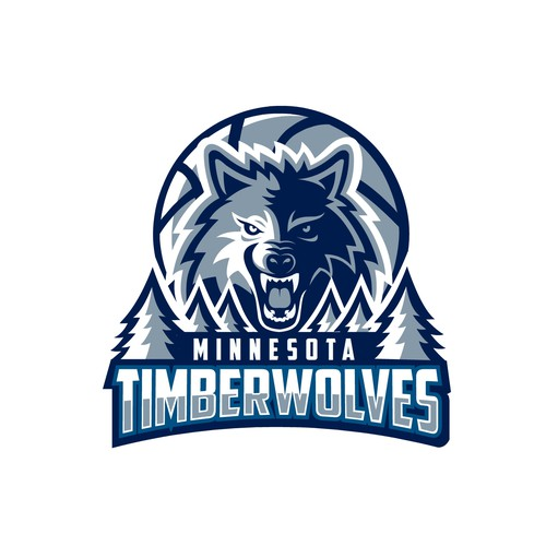 Redesign logo concept for Minnesota Timberwolves