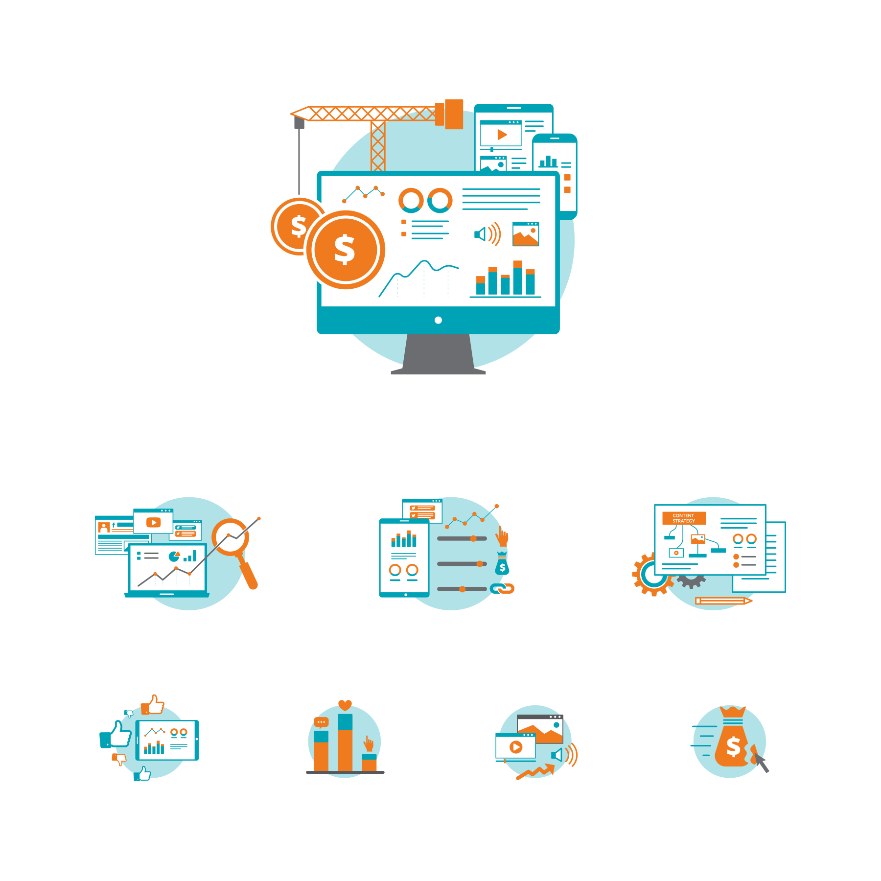 Icons for web application for Antelope INC