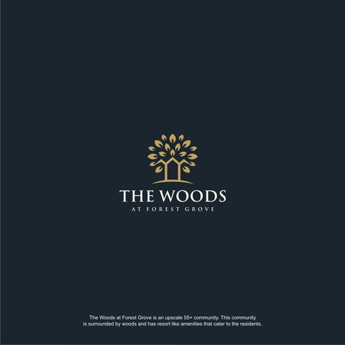 THE WOODS - LOGO FOR A NEW 55+ UPSCALE HOUSING COMMUNITY