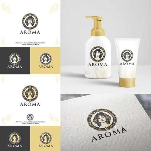 Logo for essential oil brand AROMA