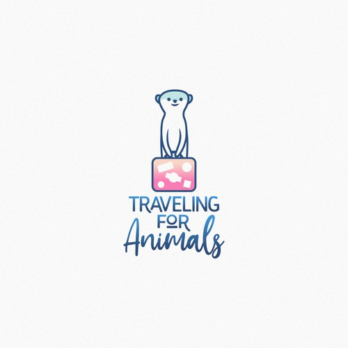Simple and nice design forA travel blog featuring and benefitting animals.