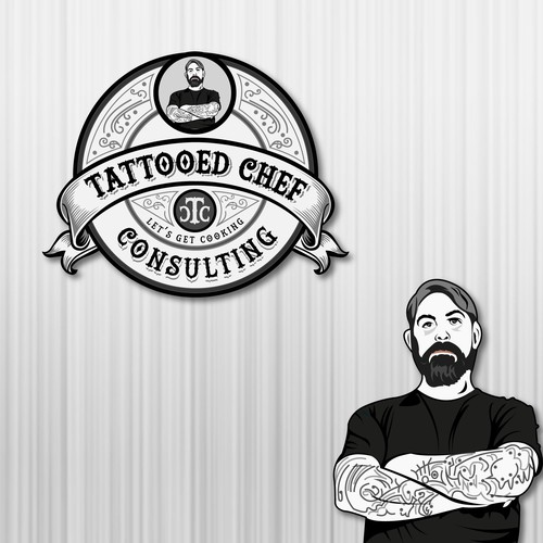 tattooed chef consulting logo