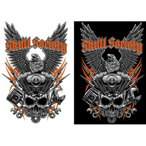 Tshirt Artwork for Skull Society
