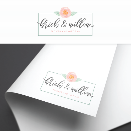 Floral logo for Brick and Willow