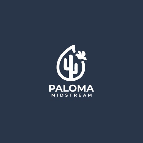line art or outline logo for paloma midstream