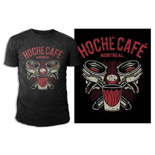 Create a unique t-shirt for Hoche Café in Montréal