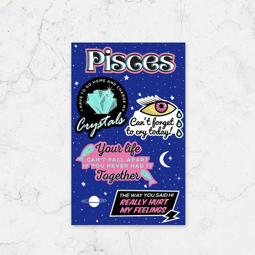 Astrological stickers 1-on-1 project design
