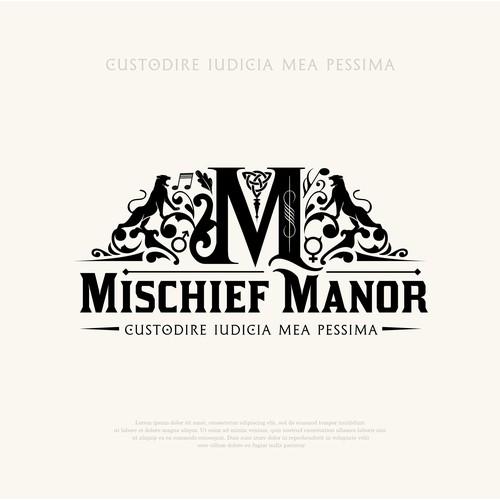 Mischief Manor - Family Crest logo design
