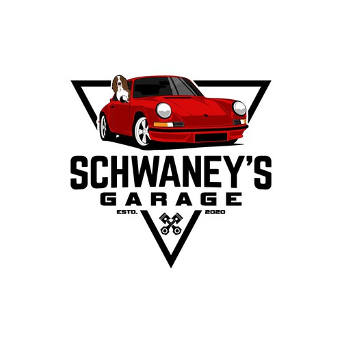 Logo for private classic car collection.