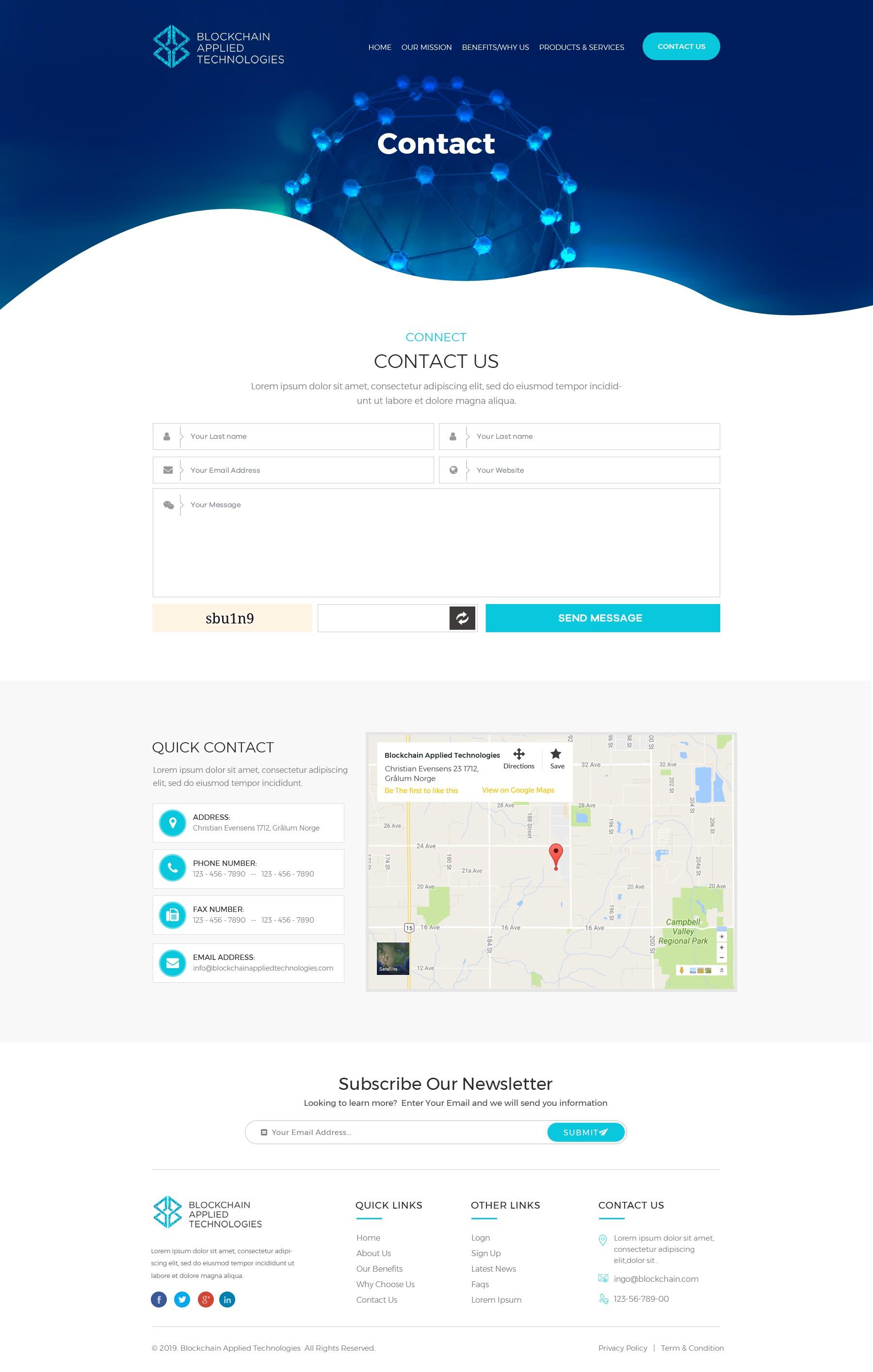 Modern PharmaTECH company, Blockchain based private Medical company WEBSITE CONTEST
