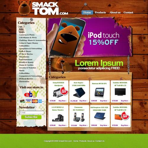 SmackTom.com Logo and Homepage