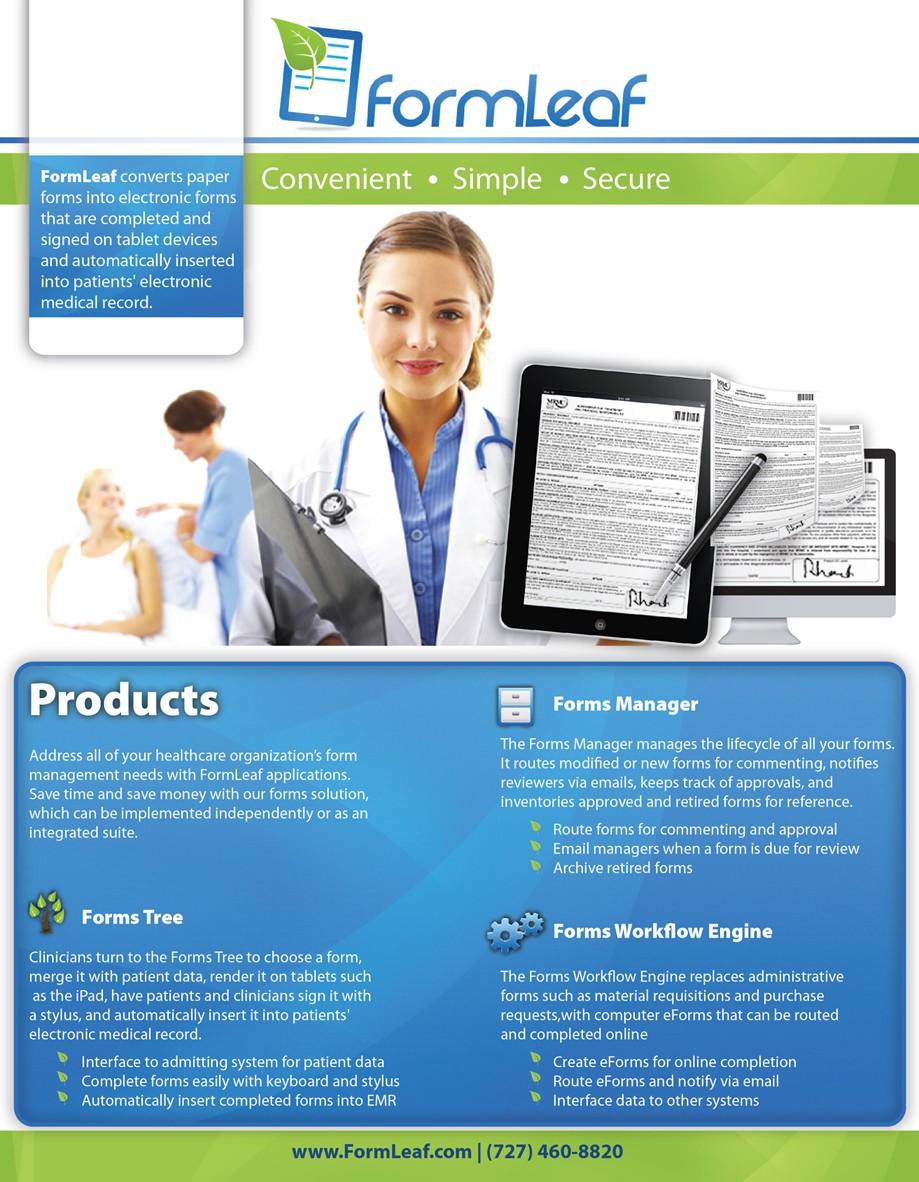Create the next brochure design for FormLeaf