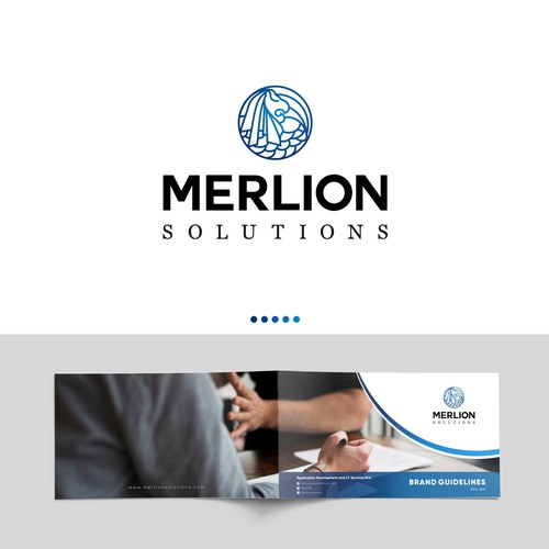 Logo and brand guidelines for merlion solution.